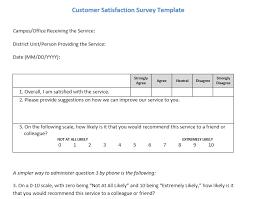 13 Free Sample Customer Satisfaction Survey Printable Samples