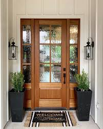 clear or flemish glass front door
