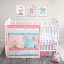 elephant time out 4 piece crib bedding set