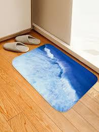 fancy sea wave pattern water absorption area rug