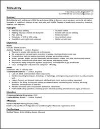 Resume Templates. Welding Resume Template: Examples Electrician ...