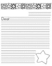 Primary Letter Writing Paper Lined Letter Writing Paper Writing Template Budding Writer
