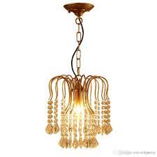 Amerikanischen Klassischen Eisenkristall Kronleuchter Lichter K9 Kristall Pendelleuchten Goldene Kronleuchter Wohnkultur E14 Halter