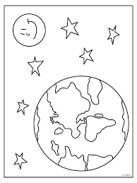 Kleurplaat Aardbol Globe Kleurplatennl