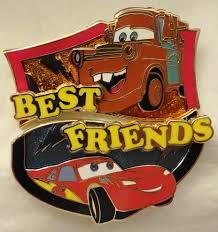 disney best friends pin of month cars lightning mcqueen mater le 3000 2 pin set