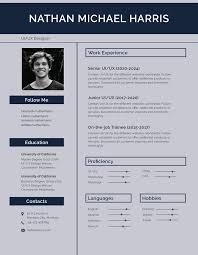 Modern Resume Templete Free Modern Resume Cv Template In Photoshop Psd