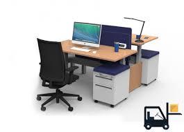 stand up computer desk rise sit stand desks