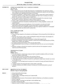 Pacu Nurse Resume Sample Image Gallery Website Pre Op Nurse Resume