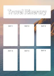 Free Trip Itinerary Planner Printable Travel Planners Carrentalia