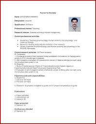 13 Biodata Format For Teaching Job Sendletters Info