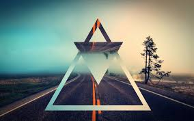 wallpaper tumblr triangles. Modren Triangles Triangles Reflecting Le Road Digital Art Hd Fonds Du0027cran Hipster With Wallpaper Tumblr K
