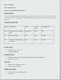 Easy Format Of Resume Crafty Design Resume For Simple Student