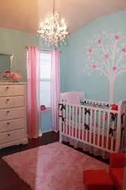 4/4; Girl Shabby Chic Hot PInk and Aqua Nursery Room View
