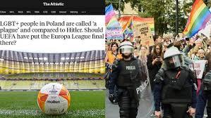 The athletic, prestiżowy portal sportowy, opublikował artykuł kwestionujący zasadność organizacji finału ligi europy w polsce. Vdxziz 56edqpm