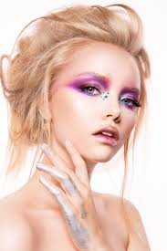 young female model eye makeup hd picture 01