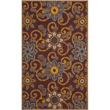 safavieh four seasons burdy indoor 5 x 8 round area rug burdy only