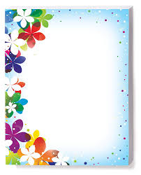 Paper With Flower Border Amazon Com Vivid Flower Border Papers 8 5 X 11 Inch 28lb