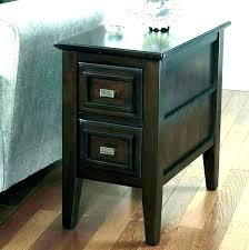 side tables tall side table with drawer end drawers grey 1 shelf tables storage narrow