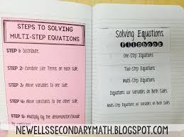 solving equations flip book for inb