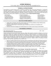 superintendent resume sample construction superintendent resume  construction superintendent resume examples and samples resume construction  management cover