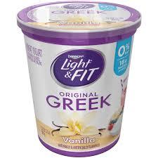 Light And Fit Yogurt Walmart Dannon Light Fit Greek Blended Vanilla Nonfat Yogurt 32 Oz Tub Walmart Com