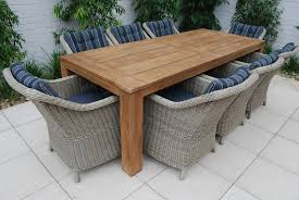 solid teak patio table