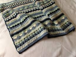 Crochet Stripe Blanket Pattern