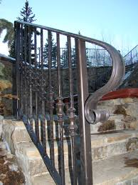exterior wrought iron stair railings. Wonderful Railings Outdoor Wrought Iron Stair Railings Intended Exterior O