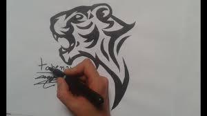 How To Draw Tiger Tattoo Tchenays