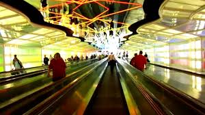 Light Tunnel B Q Neon Light Tunnel At Chicago Ohare International Airport Between Terminals B And C
