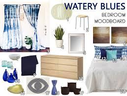 Bedroom Mood Board Watery Blues Bedroom Moodboard The Decor Guru