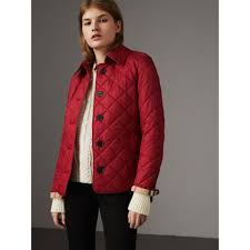 Diamond Quilted Jacket in Parade Red - Women | Burberry United Kingdom & Diamond Quilted Jacket in Parade Red - Women | Burberry United Kingdom -  gallery image 6 Adamdwight.com