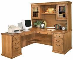 traditional oak executive l desk w left return hutch