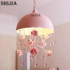 modern ceramic flower crystal chandelier romantic pink rose garden for stylish residence baby pink chandelier plan