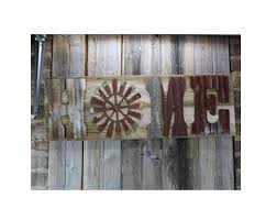 rustic home sign 10 letters