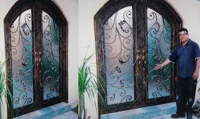 image of wrought iron front doors material