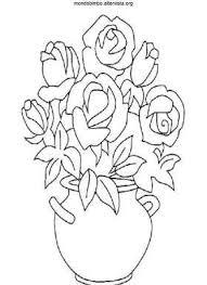 Disegno Colorare Vaso Di Rose Painting Inspirations Disegno