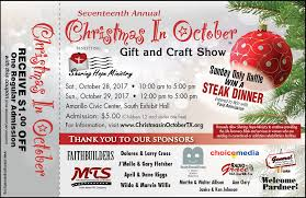 Christmas in October allows shoppers to get a jump start on Christmas  shopping while supporting Sharing Hope Ministry. Hosting over 100 vendors  and one of ...