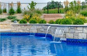 pool fountains for inground pools a luxurious asymmetrical with waterslides89 inground