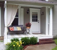 Soften Edges with Greenery. Blurring the lines between small front porch ...