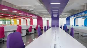 bright office. In Design Magz: MODERN OFFICE INTERIOR DESIGN WITH BRIGHT COLOR DECORATING Bright Office