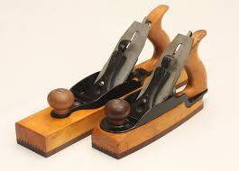 bailey planes. model shop wood bottom planes with rosewood soles bailey e