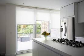motorised roller blinds in sunscreen fabric
