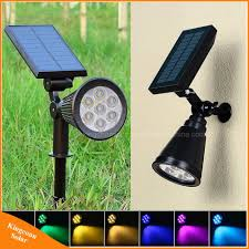 Solar Led Landscape Lights Hot Item Color Changing 7 Led Solar Spotlight Waterproof Outdoor Security Night Auto Landscape Light For Garden Fence Path Patio Yard Pool
