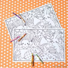 Printable Kid's Easter Coloring Placemats