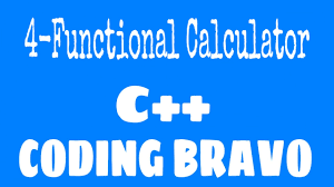 program to create four function calculator for  program to create four function calculator for 2 numbers coding bravo