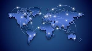 Powerpoint World Editable World Map And Connections Powerpoint