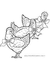 Small Picture Three French Hens Coloring Page
