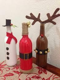 Αποτέλεσμα εικόνας για χριστουγεννιατικες κατασκευες με γυαλινο μπουκαλι