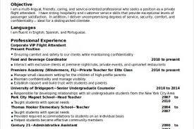 flight attendant resume objectives sample flight attendant resume resume - Flight  Attendant Resume Objective